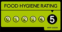 Sandown Manor Bed and Breakfast has a 5 Star Food Hygiene Award